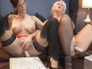 Horny milf, fetish sex scene with amazing pornstars Syren de Mer and Alura Jenson from Fuckingmach.