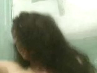 Erika Bella in water closet