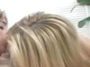 Blond legal age teenager harlots sharing one desirous ramrod