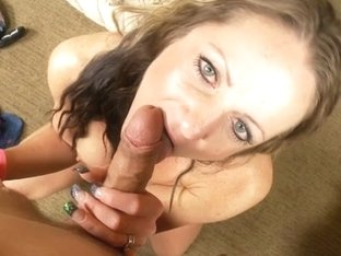 Blowjob video with horny milf crazy for fat peckers
