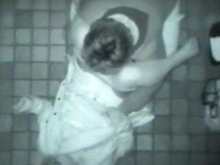 Teen asian brunette sucks and fucks on a hidden sex cam