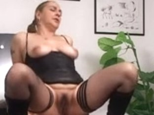 Brunette kinky mature fucked in her hairy wet cunt hard