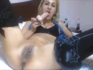 atm golden-haired sex-toy floozy