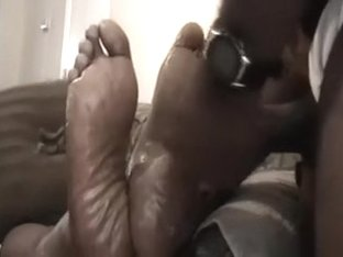 Check out the sexy feet of my ebony girlfriend in action