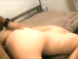 guy fucks girl hard on bed