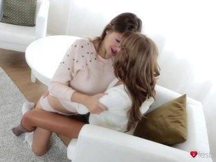 Crazy pornstars Veronica Vanoza, Eufrat in Amazing Stockings, Small Tits sex video