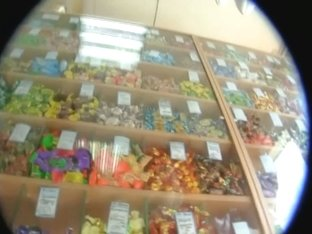 Porno upskirt of two 30-something yr. old white women in a candy store