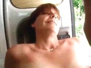 Slut wife having fun with stranger. Public nudity