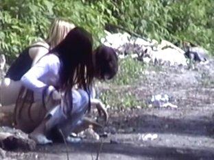 Girls Pissing voyeur video 17
