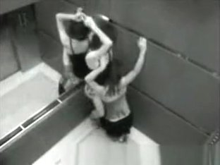 An elevator in Las Vegas, hidden camera