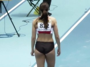 Serbian sportswoman competes in athletics events in tight clothes