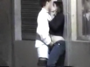 Pussy fingering in the back street