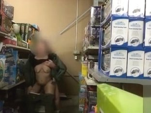 Pounding her ass in the store