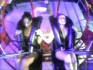 Crazy roller coaster fun with some of the hottest babes