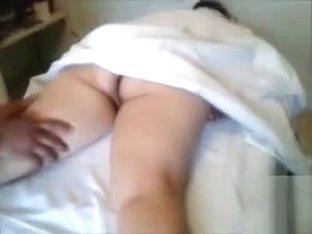 Naked chubby woman gets a sensual massage