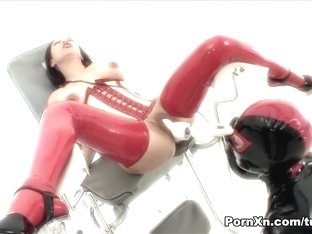 Horny pornstars in Exotic Asian, Latex porn scene