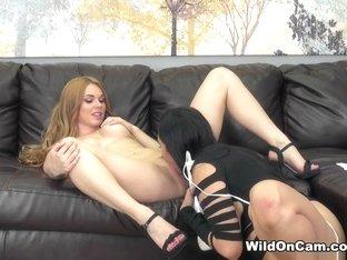 Hottest pornstars Missy Martinez, Jayme Langford in Crazy Lesbian, College xxx movie