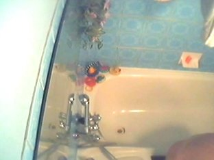 Amazing sweet chick in shower on hidden camera