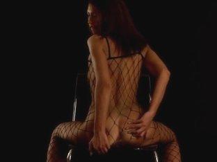Slutty Iveta Pleasures Herself In Fishnets