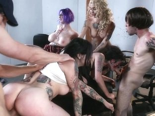 Walking Dead Orgy! BurningAngel Video