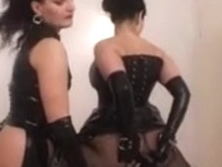 Teen mistresses facesitting their submissive slut