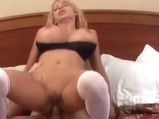 Watch this Blonde Hot, Fat Ass Mommy Suck a Massive Dick!
