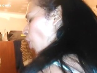 What a freak !! watch her face, when she puts my dick in her ass !!