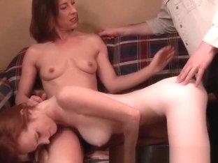 Horny Amateur movie with Handjob, Threesome scenes