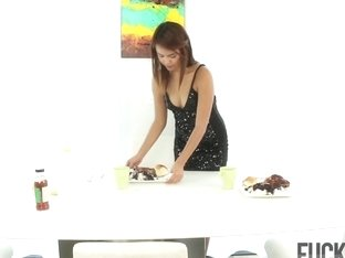Zoey Velez in Mexican for Dessert