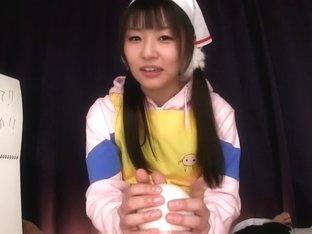 Hottest Japanese model in Amazing JAV censored Cumshots, Handjobs scene