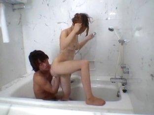 Horny Japanese whore in Amazing Doggy Style, Showers JAV scene