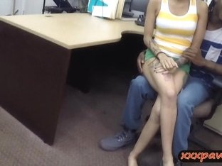 Black guy pawns her girl and let the pawn man fuck her
