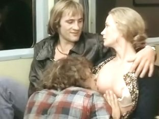 Famous actress gets her tits sucked on a train