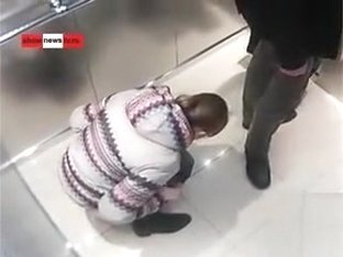 Russian news video of sister peeing in the elevator