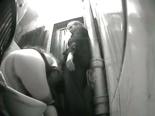 Two bridesmaids take turns peeing in the Wedding Palace toilet