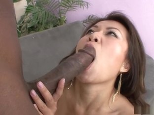 Fabulous pornstar Jackie Lin in exotic interracial, asian adult movie
