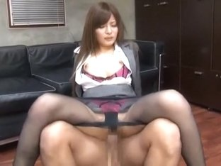 Exotic Japanese model in Hottest Fingering, Office JAV clip