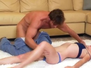 Cindy Snow relaxes with mature Justin Magnum