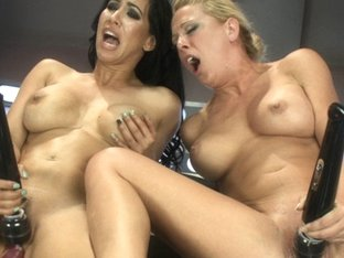 Horny fetish porn scene with best pornstars Isis Love and Cherie Deville from Fuckingmachines