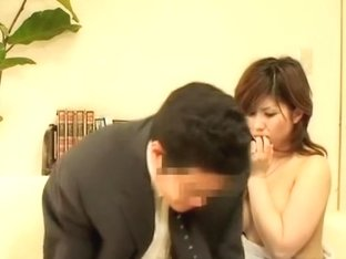 My asian hammer drilling hard a tight pussy in my office