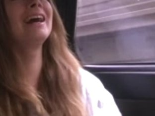 Juvenile blond engulfing in car