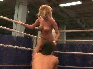 Pornstars Donna Bell & Lucy Belle wrestling