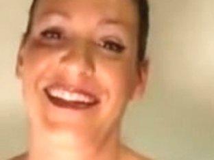 Hot looking dominatrix talks dirty over the webcam
