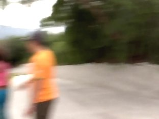 Tight ass ebony slut Essence gives head outdoor