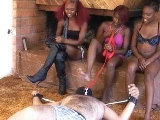 BlackGirlsWhiteSlaves: At Foot Level