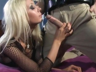 Cock sucking Jazy Berlin gets fucked by Johnny Sins