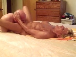 Granny cums on his face hole