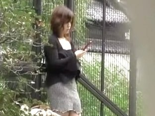 Amateur Japanese bitch gets her skirt ripped in public by some lad