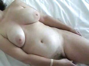 Naughty cutie enjoys an orgasm