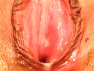 My Asian lover lets me play with her creampied cunt